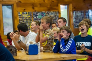 dining hall food meal time campers laughter